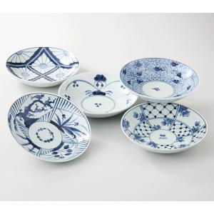 西海陶器  染付紋  浅鉢揃  52801  波佐見焼     材質:磁器|hoonstore