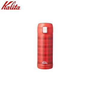 カリタ Kalita カリタ タータンチェック350 ステンレス製携帯用まほうびん 容量約350ml カラー:ホワイト 品番:#73127|hoonstore