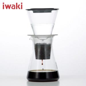 【在庫限定特価品】iwaki イワキ ウォータードリップ コーヒーサーバー 実用容量440ml KT8644-CL|hoonstore