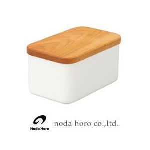 野田琺瑯 バターケース 450g用  木蓋付 BT-450|hoonstore
