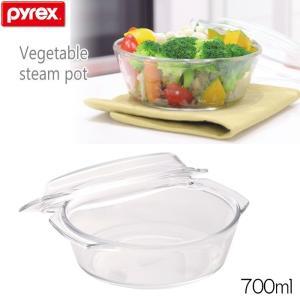 パイレックス PYREX ベジタブルスチームポット 700ml  CP-8581 耐熱ガラス製|hoonstore