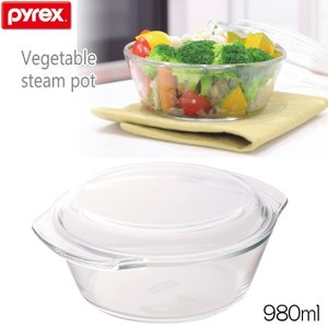 パイレックス PYREX ベジタブルスチームポット 980ml  CP-8582 耐熱ガラス製|hoonstore