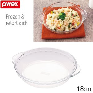 パイレックス PYREX 冷凍レトルトディッシュ 18cm  CP-8587 耐熱ガラス製|hoonstore