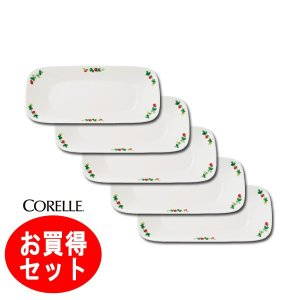 コレール CORELLE スウィートストロベリー スクエア長皿5枚組 J2210−SWT|hoonstore