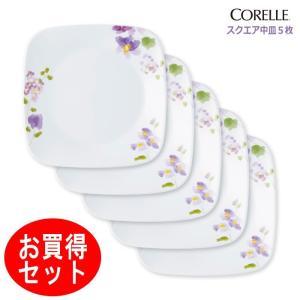 ●5枚セットでお買得!水彩で描かれたようなバイオレットの花模様。かわいらしさとエレガントさをテーブル...