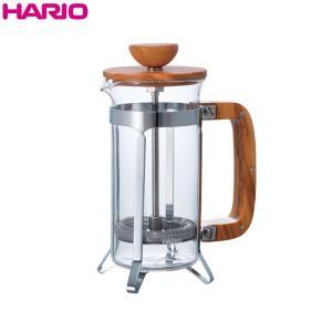 ハリオ HARIO カフェプレス・ウッド  オリーブウッド  実用容量300ml 2杯用|hoonstore