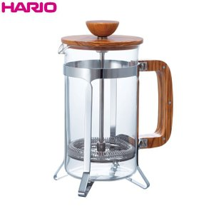 ハリオ HARIO カフェプレス・ウッド  オリーブウッド  実用容量600ml 4杯用|hoonstore