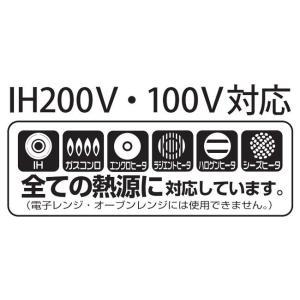 ハリオ HARIO フタがガラスのIH対応 ご飯釜 雪平 満水容量2800ml 1〜3合用|hoonstore|06