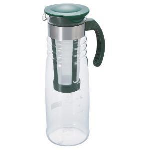 ■かご網茶こしの付いた水出し茶ポット  ●かご網の茶こしに茶葉を入れ、水を入れます。 ●フタをして冷...