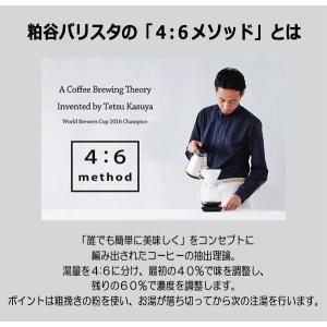 ハリオ HARIO V60透過ドリッパー 02 粕谷モデル  磁器製 有田焼 1〜4杯用 カラー:ブラック  V60計量スプーン付|hoonstore|07
