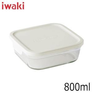 iwaki イワキ パック&レンジ BOX 小 ホワイト 満水容量800ml|hoonstore
