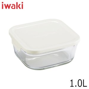 iwaki イワキ パック&レンジ BOX 小 深型 ホワイト 満水容量1.0L|hoonstore