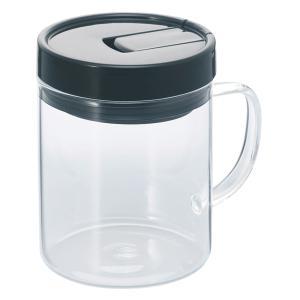 ハリオ HARIO 珈琲キャニスター スリムS MCNT-S-B 満水容量480ml コーヒー粉130gが入ります! |hoonstore