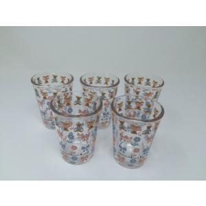 【在庫限定特価品】Shinzi Katoh ちびグラス bear 5個セット RG-20580-5 容量120ml *箱は茶箱で、ギフト箱ではありません。|hoonstore