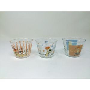 【在庫処分品】ShinziKatoh 耐熱ガラスプリンカップ 小 満水容量150ml cheri 3柄 3個組 RG-36005-3|hoonstore
