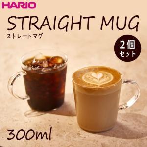 ハリオ HARIO ストレートマグ2個セット 満水容量300ml セットでお買得♪1個あたり424円!|hoonstore