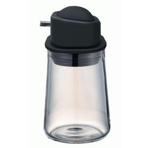 ハリオ HARIO  醤油差し ワンプッシュ  実用容量80ml 色:ペールグレー、ブラック |hoonstore