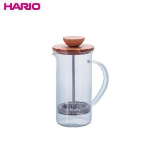 ハリオ HARIO プレス式ティーメーカー ティープレス・ウッド 実用容量300ml 2杯用