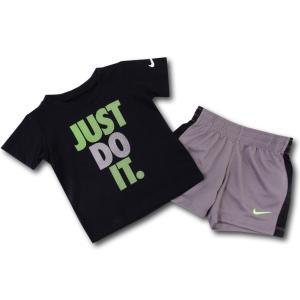 d8db9ad2d6dbb BT468 ベビー Nike ナイキ Tシャツ&パンツ セットアップ 黒ダークグレー黄緑