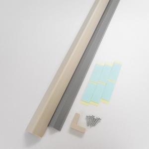 コーナーガード 安全ガード (当て板式) ミニ アイボリー 1本 日本製|hop4132