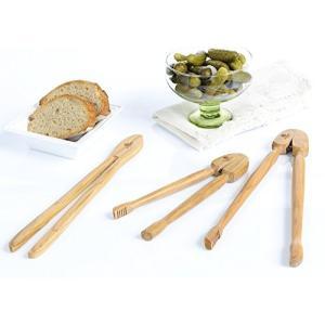 Berard Olive-Wood Handcrafted Toast Tongs by Berar...