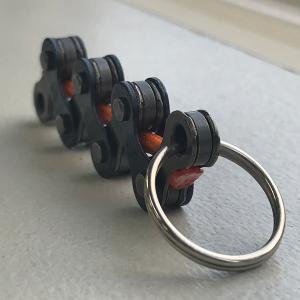 自転車チェーンキーホルダー(L)オレンジ kpsk082 hope-kobo
