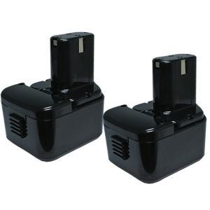 2個セット 日立工機(Hitachi Koki) 電動工具用 互換 ニッケル水素 バッテリー 12.0V 2.5Ah EB1214L EB1214S EB1220BL EB1212S対応|hori888