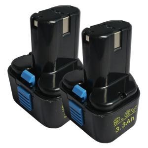 2個セット 日立工機(Hitachi Koki) 電動工具用 互換 ニッケル水素 バッテリー 9.6V 3.3Ah EB9 EB9S EB914S EB912S対応|hori888