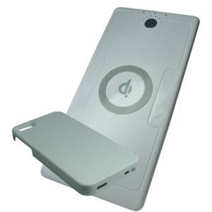 Qi チー 規格対応 充電器セット iPhone5S /5 対応ケース +大容量バッテリー内蔵型ワイヤレス充電器|hori888