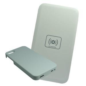 Qi チー 規格対応 充電器セット iPhone5 / 5S 対応ケース + ワイヤレス充電器 (USB供給)|hori888
