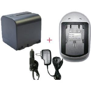 充電器セット ビクター(JVC) BN-VF714 互換バッテリー + 充電器 (AC)|hori888