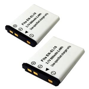 2個セット ニコン(Nikon) EN-EL10 互換バッテリー|hori888