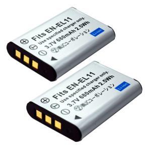 2個セット ニコン(Nikon) EN-EL11 互換バッテリー|hori888