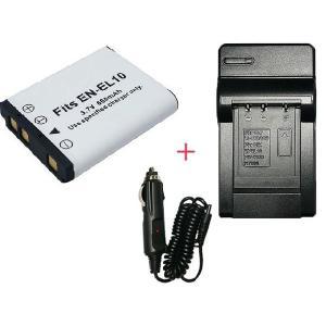 充電器セット ニコン (Nikon) EN-EL10 互換バッテリー + 充電器(コンパクト)|hori888
