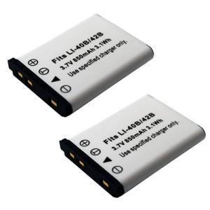 2個セット オリンパス(OLYMPUS) Li-40B / Li-42B 互換バッテリー|hori888