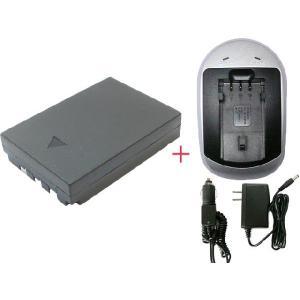 充電器セット オリンパス(OLYMPUS) Li-10B / Li-12B互換バッテリー(AC) hori888