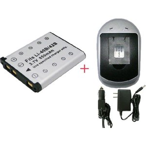 充電器セット オリンパス(OLYMPUS) Li-40B / Li-42B互換バッテリー + 充電器 (AC)|hori888