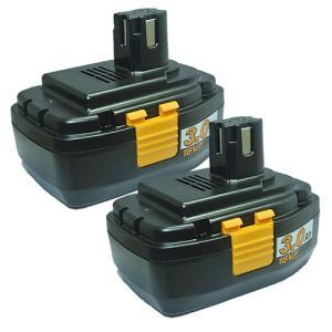 2個セット パナソニック(Panasonic) 電動工具用 ニッケル水素 互換バッテリー 18.0V 3.0Ah EY9251対応 hori888