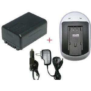充電器セット パナソニック(Panasonic) VW-VBK180-K 互換バッテリー + 充電器 (AC)