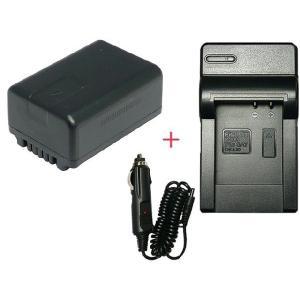充電器セット パナソニック(Panasonic) VW-VBK180-K 互換バッテリー + 充電器(コンパクトタイプ)