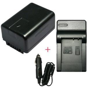 充電器セット パナソニック(Panasonic) VW-VBT190 互換バッテリー (VBT190 / VBT380 )+充電器(コンパクト)|hori888