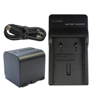 充電器セット ビクター(Victor) BN-VF714/BN-VF714L 互換バッテリー + 充電器(USB 薄型) (VF707 / VF714 / VF733 )|hori888