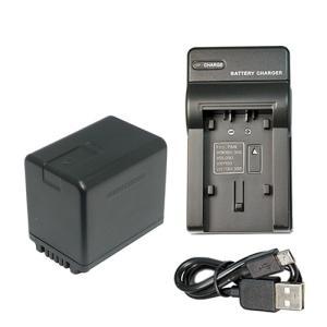 USB充電器セット パナソニック(Panasonic) VW-VBK360-K 互換バッテリー + 充電器(USBタイプ)|hori888