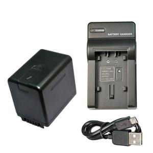USB充電器セット パナソニック(Panasonic) VW-VBT380-K 互換バッテリー + 充電器(USBタイプ)|hori888