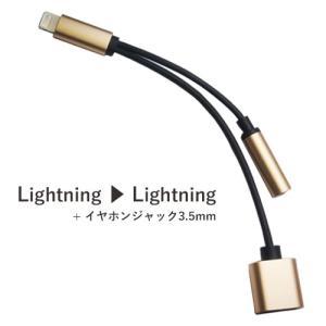 Lightning-3.5mm ステレオ ミニジャック+充電 2in1 変換ケーブル ZJ-C05|hori888
