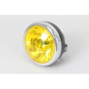 レビューで送料¥390 6ヶ月保証付 ヘッドライト ブラックボディ イエローレンズ ミニ用 12V マルチリフレクターライト horidashi