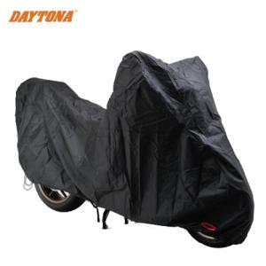 セール特価 レビューで送料¥390 DAYTONA(デイトナ) バイクカバー ボディーカバー (4Lサイズ)(77517)BLACK COVER スタンダード2 盗難防止|horidashi