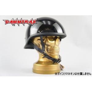 レビューで送料¥390 DAMMTRAX ダムトラックス レベル ブラック 黒 ダックテール ヘルメット バイク用 ハーフ ヘルメット horidashi