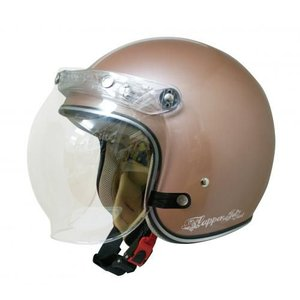 メーカー欠品中 送料無料 レディース用 DAMMTRAX(ダムトラックス) フラッパージェットネクスト ブラウン レディース ヘルメット シールド付きジェット|horidashi