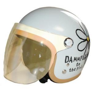 DAMMTRAX(ダムトラックス) フラワージェットシールド F.CLEAR/フラッシュクリア 女性用ヘルメット用 ミラーシールド シールドバイザー 交換用シールド|horidashi